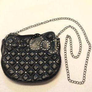 Hello kitty crossbody black studded purse